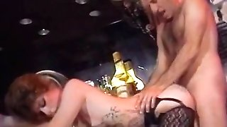 Nasty duo fuck in the bar