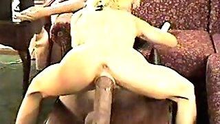Humping a massive fuck stick