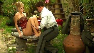 Duo Make Intercourse In The Garden