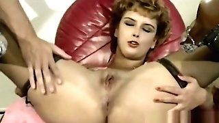 Retro Looking Blonde Mummy Loves Tonguing Act On Wide Open Asshole