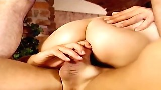 German 18yr Nubile Get Fucked In Double Penetration By Two Older Man In Retro