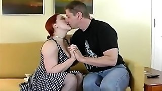 Curvy Chubby Ginger-haired Fucks In High High-heeled Shoes
