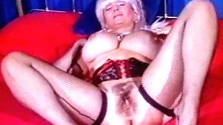 Big Tittied Grand-ma Candy Samples Masturbates