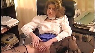 Lathy matures gets banged in the office